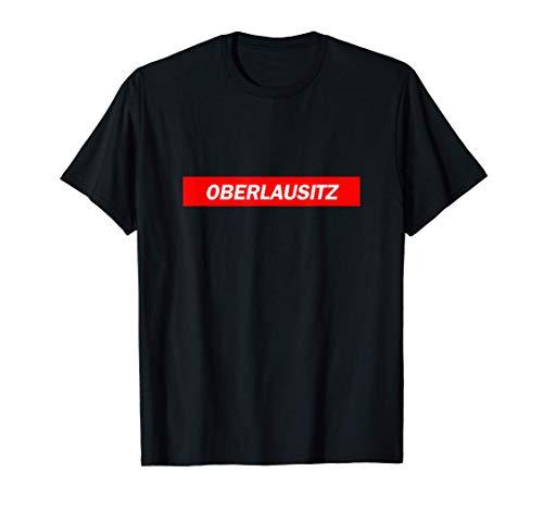 Oberlausitz Red Box Logo Parodie Stadt T-Shirt