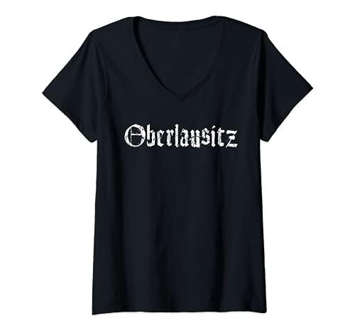 Damen Oberlausitz T-Shirt mit V-Ausschnitt