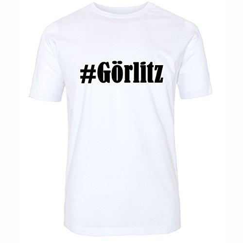 T-Shirt #Görlitz Größe 2XL Farbe Weiss Druck schwarz