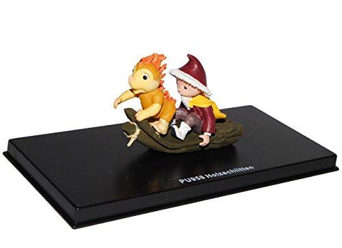 alles-meine.de GmbH unser Sandmännchen Figur - Holzschlitten PU 958 - Set incl. Vitrine - Miniatur Figur Traummobile - Sandmann - Sammlermodell - Sammelfigur auch für Puppenstube..