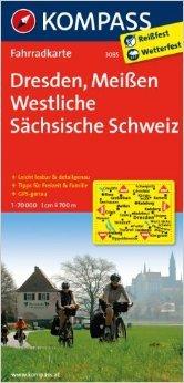 Dresden - Meißen - Westliche Sächsische Schweiz: Fahrradkarte. GPS-genau. 1:70000 (KOMPASS-Fahrradkarten Deutschland) ( Folded Map, Juni 2012 )