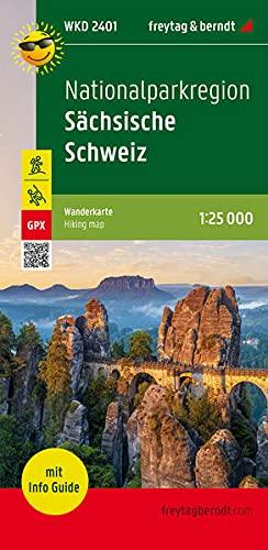 Nationalparkregion Sächsische Schweiz, Wanderkarte 1:25.000, mit Infoguide, freytag & berndt, WKD 2401: Elbsandsteingebirge, wasserfest und reißfest, ... (freytag & berndt Wander-Rad-Freizeitkarten)