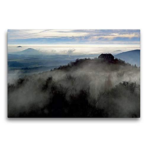CALVENDO Premium Textil-Leinwand 75 cm x 50 cm quer, EIN Motiv aus dem Kalender Das Zittauer Gebirge   Wandbild, Bild auf Keilrahmen, Fertigbild auf echter Leinwand, Leinwanddruck Natur Natur