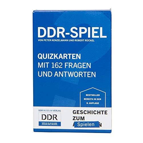 DDR Nostalgie Kartenspiel mit 162 Fragen und Antworten | Berlin Geschichte Reisespiel | Ostalgie-Geschenk | Ostberlin Quiz | Ostpaket