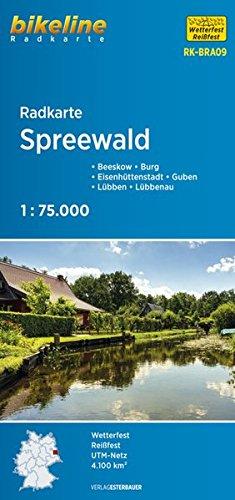Bikeline Radkarte Spreewald, Burg, Eisenhüttenstadt, Gruben, Lübbeb, Lübbenau, 1 : 75 000, wasserfest und reißfest, GPS-tauglich mit UTM-Netz