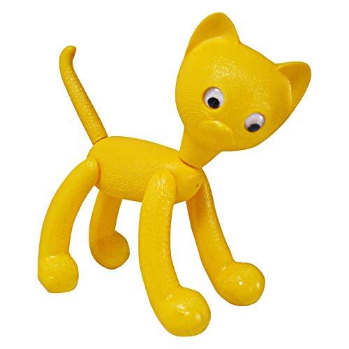 Unbekannt Katze Minka gelb mit Wackelaugen ca. 22 x 25 cm DDR Spielzeug