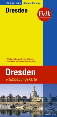 Falk Stadtplan Extra Standardfaltung Dresden