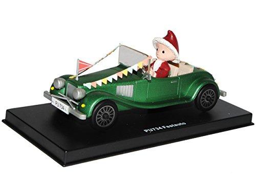 alles-meine.de GmbH unser Sandmännchen Figur - Festauto / Auto PU 734 - Set incl. Vitrine - Miniatur Figur Traummobile - Sandmann - Sammlermodell - Sammelfigur auch für Puppenstu..