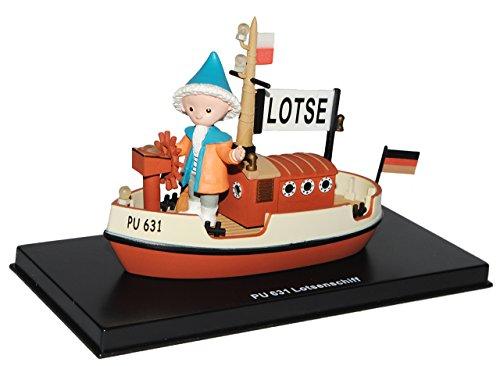 alles-meine.de GmbH unser Sandmännchen Figur - Lotsenschiff PU 631 - Set incl. Vitrine - Miniatur Figur Traummobile - Sandmann - Sammlermodell - Sammelfigur auch für Puppenstube ..
