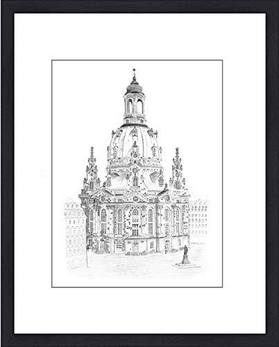 Original Bleistiftzeichnung'Dresden - Frauenkirche' von Michael Richter - Dresden (Dresden Zeichnung)
