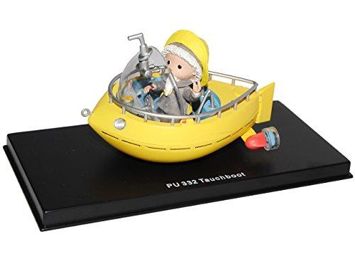 alles-meine.de GmbH unser Sandmännchen Figur - Tauchboot PU 332 - Set incl. Vitrine - Miniatur Figur Traummobile - Sandmann - Sammlermodell - Sammelfigur auch für Puppenstube - M..