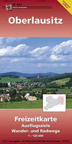 Oberlausitz: Freizeitkarte Ausflugsziele Wander- und Radwege 1:120 000 wetterfest, reißfest