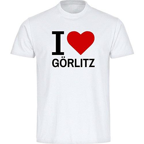 Kinder T-Shirt Classic I Love Görlitz - weiß - Größe 128 bis 176, Größe:176