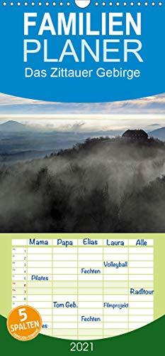 Das Zittauer Gebirge - - Familienplaner hoch (Wandkalender 2021, 21 cm x 45 cm, hoch)