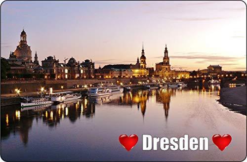 Cadora Magnetschild Kühlschrankmagnet I Love Dresden V