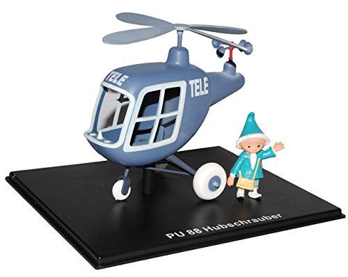 alles-meine.de GmbH unser Sandmännchen Figur - Hubschrauber PU 88 - Set incl. Vitrine - Miniatur Figur Traummobile - Sandmann - Sammlermodell - Sammelfigur auch für Puppenstube -..