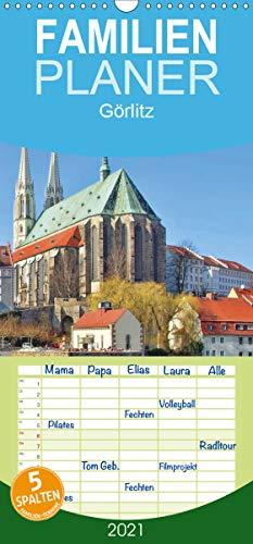 Görlitz - Die Perle Niederschlesiens - Familienplaner hoch (Wandkalender 2021, 21 cm x 45 cm, hoch)