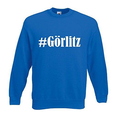 Reifen-Markt Sweatshirt Damen #Görlitz Größe 2XL Farbe Blau Druck Weiss
