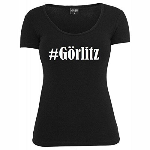 Damen T-Shirt #Görlitz Größe 2XL Farbe Schwarz Druck Weiss