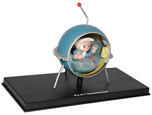 alles-meine.de GmbH unser Sandmännchen Figur - Raumkapsel PU 917 - Set incl. Vitrine - Miniatur Figur Traummobile - Sandmann - Sammlermodell - Sammelfigur auch für Puppenstube - ..