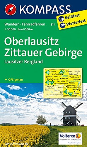 Oberlausitz, Zittauer Gebirge 1 : 50 000: Wanderkarte mit Radrouten. GPS-genau (KOMPASS-Wanderkarten, Band 811)