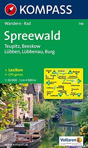 Spreewald: Wander- und Radtourenkarte. Teupitz, Beeskow, Lübben, Lübbenau, Burg. 1:50.000.