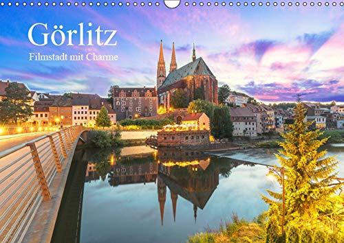 Görlitz - Fimstadt mit Charme (Wandkalender 2019 DIN A3 quer): GÖRLIWOOD, eine der besterhaltenen Städte Deutschlands, mit Charme und romantische ... (Monatskalender, 14 Seiten ) (CALVENDO Orte)