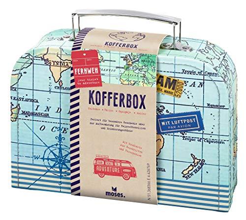 moses Fernweh Koffer Allzweckbox   Für Geldgeschenke und kleine Reise-Utensilien, blau, One Size