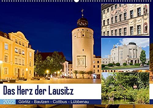 Das Herz der Lausitz Görlitz - Bautzen - Cottbus - Lübbenau (Wandkalender 2022 DIN A2 quer): Die Lausitz ist eine traumschöne Kultur und ... (Monatskalender, 14 Seiten ) (CALVENDO Orte)