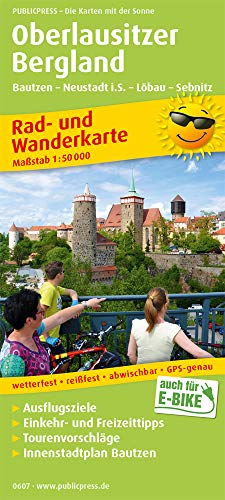 Oberlausitzer Bergland, Bautzen - Neustadt i.S. - Löbau - Sebnitz: Rad- und Wanderkarte mit Ausflugszielen, Einkehr- & Freizeittipps, wetterfest, ... 1:50000 (Rad- und Wanderkarte: RuWK)