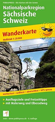 Nationalparkregion Sächsische Schweiz: Wanderkarte mit Malerweg und Elberadweg, wetterfest, reissfest, abwischbar, GPS-genau. 1:25000 (Wanderkarte: WK)