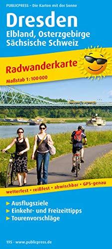 Dresden - Elbland, Osterzgebirge, Sächsische Schweiz: Radwanderkarte mit Ausflugszielen, Einkehr- & Freizeittipps, wetterfest, reissfest, abwischbar, GPS-genau. 1:100000 (Radkarte / RK)