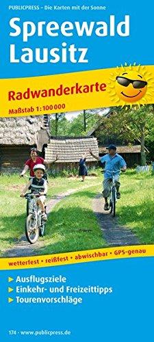 Spreewald - Lausitz: Radwanderkarte mit Ausflugszielen, Einkehr- & Freizeittipps, wetterfest, reissfest, abwischbar, GPS-genau. 1:100000 (Radkarte / RK)