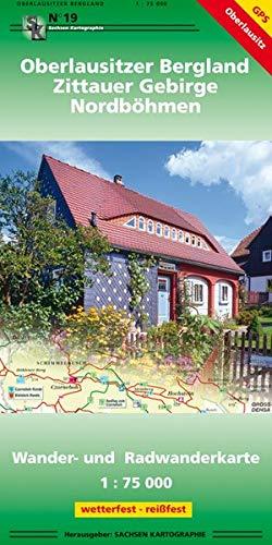 Oberlausitzer Bergland - Zittauer Gebirge - Nordböhmen: Wander- und Radwanderkarte 1 : 75 000 GPS-fähig