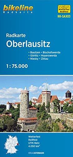 Radkarte Oberlausitz (RK-SAX03): Bautzen - Bischofswerda - Görlitz - Hoyerswerda - Niesky - Zittau