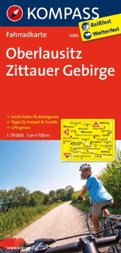KOMPASS Fahrradkarte Oberlausitz - Zittauer Gebirge: Fahrradkarte. GPS-genau. 1:70000 (KOMPASS-Fahrradkarten Deutschland, Band 3086)