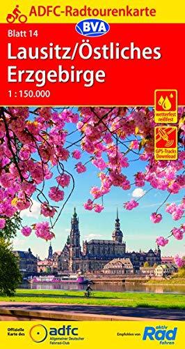 ADFC-Radtourenkarte 14 Lausitz /Östliches Erzgebirge 1:150.000, reiß- und wetterfest, GPS-Tracks Download (ADFC-Radtourenkarte 1:150000)