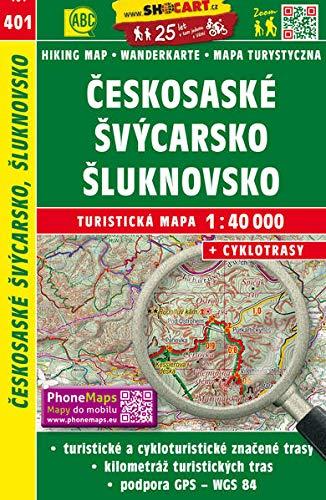 Českosaské Švýcarsko, Šluknovsko / Sächsisch-Böhmische Schweiz, Schluckenau (Wander - Radkarte 1:40.000): Turisticke Mapy Cesko (SHOCart Wander - Radkarte 1:40.000 Tschechien, Band 401)