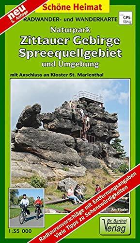 Doktor Barthel Wander- und Radwanderkarten, Zittauer Gebirge, Spreequellgebiet und Umgebung: Mit Anschluss an Kloster St. Marienthal (Schöne Heimat)
