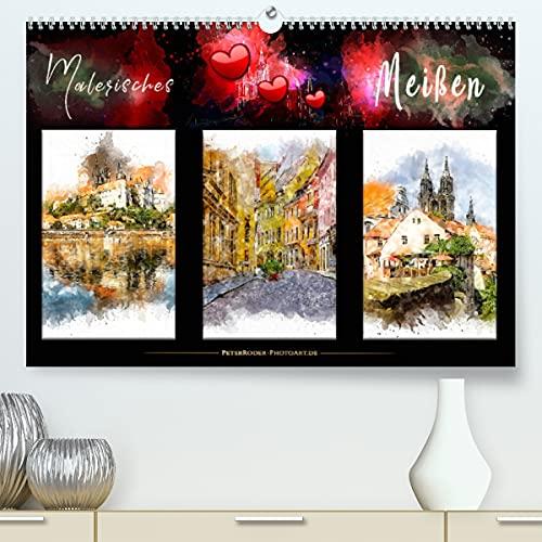 Malerisches Meißen (Premium, hochwertiger DIN A2 Wandkalender 2022, Kunstdruck in Hochglanz)
