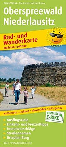 Oberspreewald - Niederlausitz: Rad- und Wanderkarte mit Ausflugszielen, Einkehr- & Freizeittipps und Stadtplan Burg, wetterfest, reissfest, abwischbar, GPS-genau. 1:60000 (Rad- und Wanderkarte: RuWK)