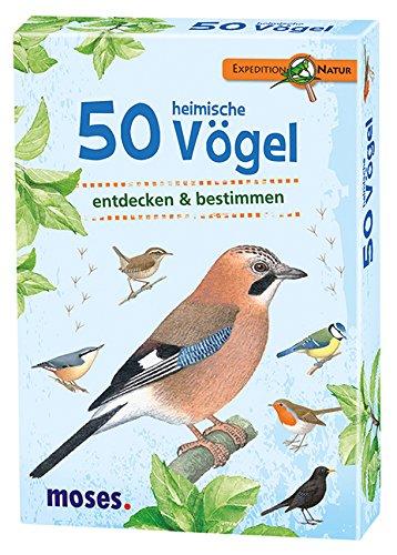 Moses 9715 Expedition Natur - 50 heimische Vögel   Bestimmungskarten im Set   Mit spannenden Quizfragen