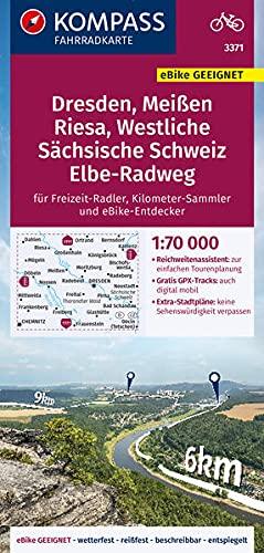 KOMPASS Fahrradkarte Dresden, Meißen, Westliche Sächsische Schweiz 3371: Fahrradkarte. GPS-genau. 1:70000 (KOMPASS-Fahrradkarten Deutschland)