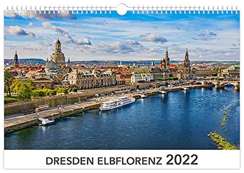 Kalender Dresden Elbflorenz 2022 | 45 x 30 cm weißes Kalendarium