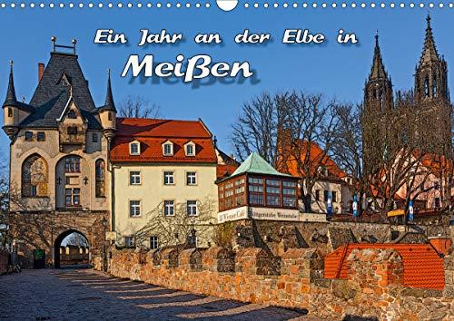 Das Jahr an der Elbe in Meißen (Wandkalender 2021 DIN A3 quer)