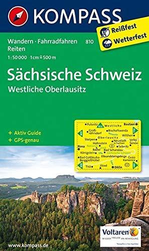 KOMPASS Wanderkarte Sächsische Schweiz - Westliche Oberlausitz: Wanderkarte mit Aktiv Guide, Rad- und Reitwegen. GPS-genau. 1:50000 (KOMPASS-Wanderkarten, Band 810)