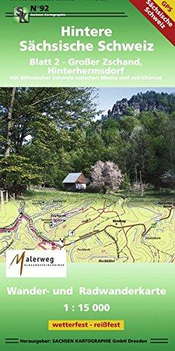 Hintere Sächsische Schweiz - Blatt 2: Großer Zschand, Hinterhermsdorf 1 : 15 000 GPS-fähig, wetterfest, reißfest: Groer Zschand, Hinterhermsdorf 1 : 15 000