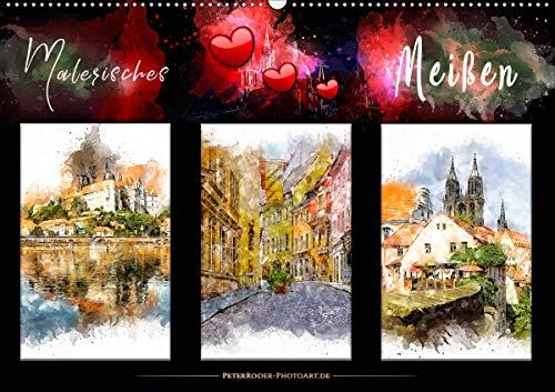 Malerisches Meißen (Wandkalender 2021 DIN A2 quer)