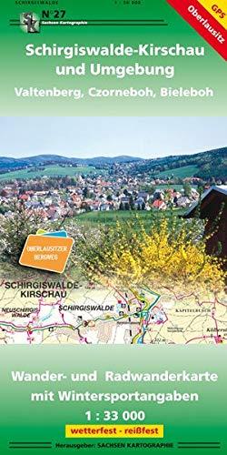 Schirgiswalde-Kirschau und Umgebung - Vatlenberg, Czorneboh, Bieleboh: Wander- und Radwanderkarte 1: 33 000 GPS-fähig wetterfest, reißfest