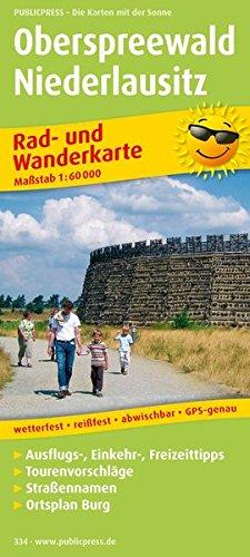 Oberspreewald - Niederlausitz: Rad- und Wanderkarte mit Ausflugszielen, Einkehr- & Freizeittipps und Stadtplan Burg, wetterfest, reissfest, abwischbar, GPS-genau. 1:50000 (Rad- und Wanderkarte / RuWK)